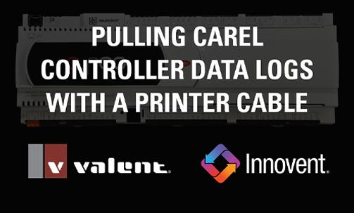 Tech_Pulling_Carel_Data_Logs_Printer_Cable_Thumb